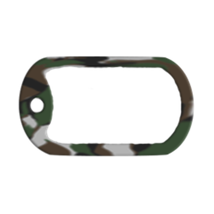 Silenciador de silicona para chapas militares