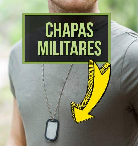 Chapas militares grabado personalizado