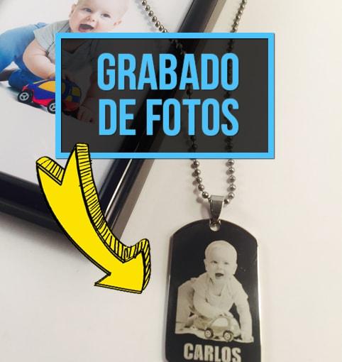 colgante con foto personalizado grabado